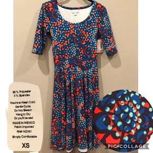 XS LuLaRoe Nicole dress brand new with tags